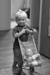 Everett and his baby